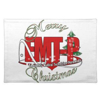 CHRISTMAS EMT-P Emergency Medical Tech Paramedic Place Mats