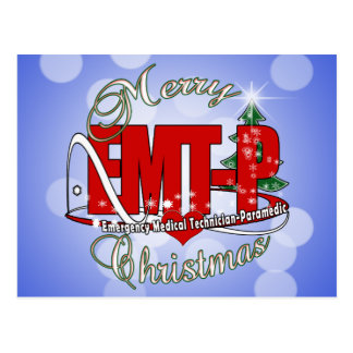 CHRISTMAS EMT-P Emergency Medical Tech Paramedic Postcard