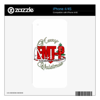CHRISTMAS EMT-P Emergency Medical Tech Paramedic Skin For iPhone 4S