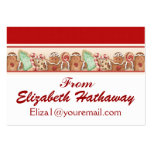 Christmas Enclosure Card / Tag - SRF Large Business Cards (Pack Of 100)