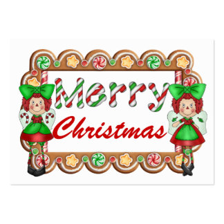 Christmas Enclosure Cards - Tags-  SRF Large Business Card