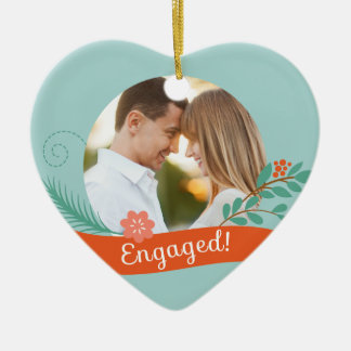 Christmas Engaged Photo Ornament
