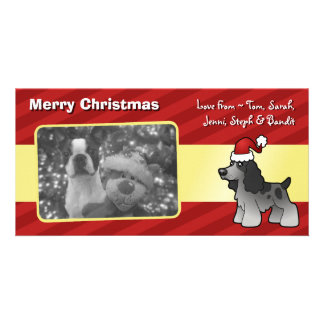 Christmas English Cocker Spaniel Card