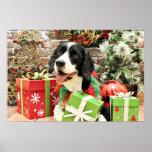 Christmas - English Springer Spaniel - Betsy Posters