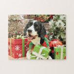 Christmas - English Springer Spaniel - Betsy Jigsaw Puzzle
