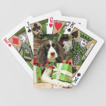 Christmas - English Springer Spaniel - Kinzie Bicycle Playing Cards