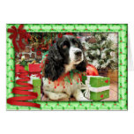 Christmas - English Springer Spaniel - Lucy Greeting Card