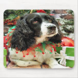 Christmas - English Springer Spaniel - Lucy Mousepad