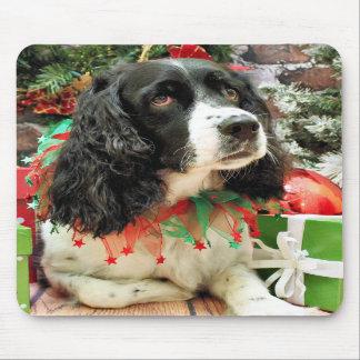 Christmas - English Springer Spaniel - Lucy Mousepad