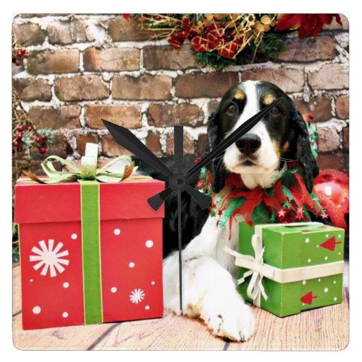 Christmas - English Springer Spaniel - Mac Wallclocks