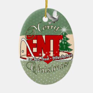 CHRISTMAS ENT DOCTOR EAR, NOSE, THROAT CERAMIC ORNAMENT