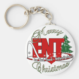 CHRISTMAS ENT DOCTOR EAR, NOSE, THROAT KEYCHAIN