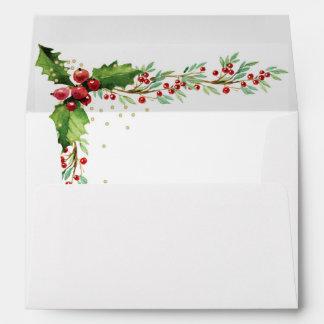Christmas Envelope - Festive Holly