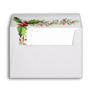 Christmas Envelope - Festive Holly