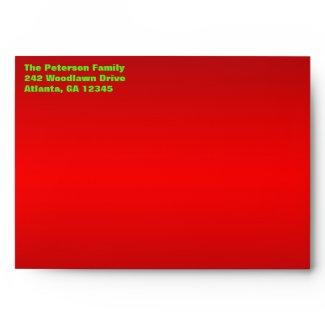 Christmas Envelope for 5x7 Greeting Cards envelope