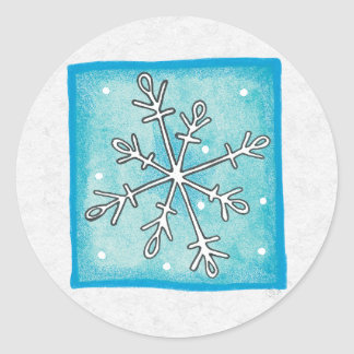 Christmas Envelope Sealer Classic Round Sticker