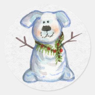 Christmas Envelope Sealer Round Stickers