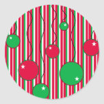 Christmas Envelope Seals: Modern Pizazz Sticker
