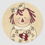Christmas Envelope Seals: Simple Joys Annie Stickers