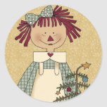 Christmas Envelope Seals: Simple Joys Annie Round Sticker