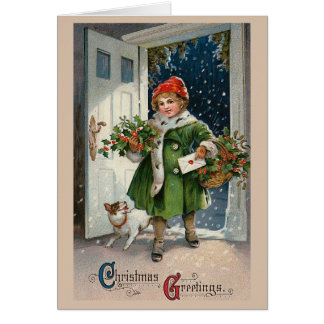 Christmas Errands Greeting Card