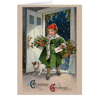 """Christmas Errands"" Greeting Card"