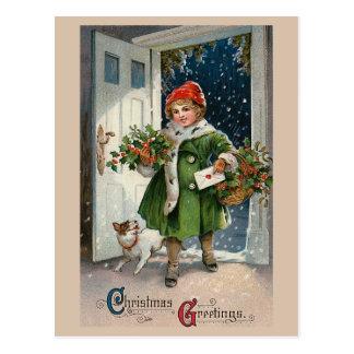 """Christmas Errands"" Postcard"