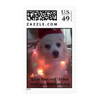 Christmas Eskie, Eskie Rescuers United Stamp