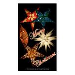 Christmas estrella plantilla de tarjeta personal