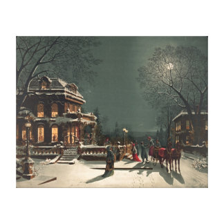 Christmas Eve 1880 Stretched Canvas Prints
