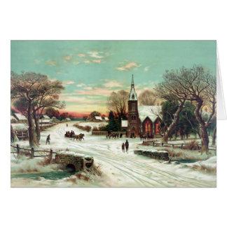 Christmas Eve 1898 Card