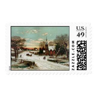 Christmas Eve 2 Postage Stamp