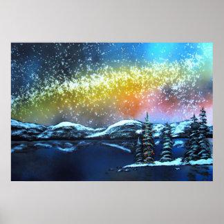 Christmas Eve at Lake Tahoe Poster