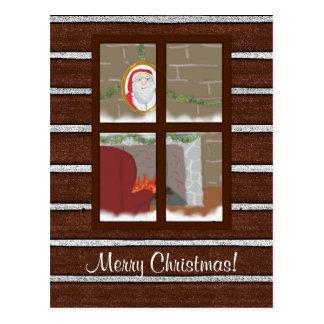 Christmas Eve at Santa's House Holiday Postcard