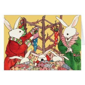 Christmas Eve Bunnies Card