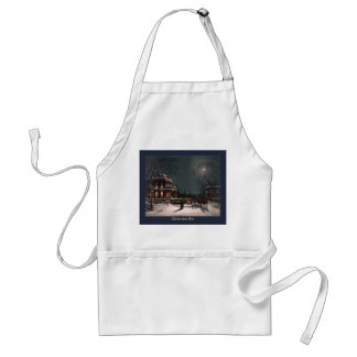 Christmas Eve by J. Hoover - Vintage Christmas Adult Apron