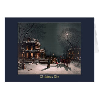 Christmas Eve by J. Hoover - Vintage Christmas Card