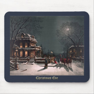 Christmas Eve by J. Hoover - Vintage Christmas Mouse Pad