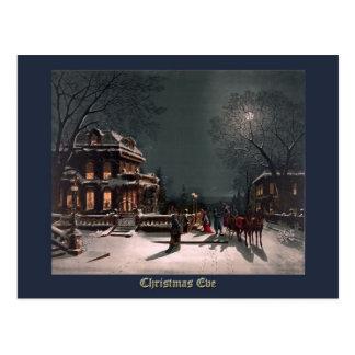Christmas Eve by J. Hoover - Vintage Christmas Postcard
