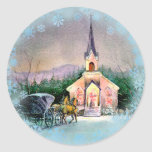 CHRISTMAS EVE by SHARON SHARPE Classic Round Sticker
