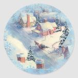 CHRISTMAS EVE by SHARON SHARPE Round Stickers