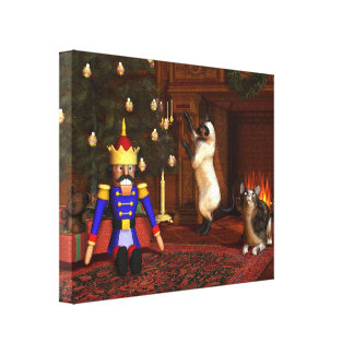 Christmas Eve by the Fireside Canvas Print