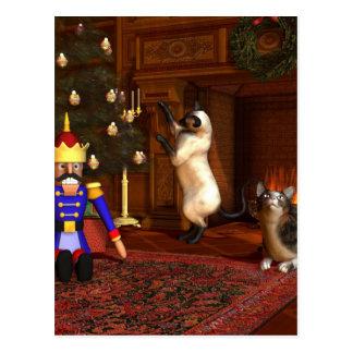 Christmas Eve by the Fireside Postcard