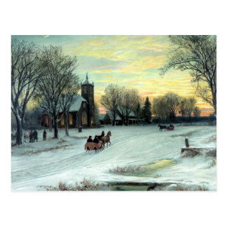 Christmas Eve by W. C. Bauer from Postcard