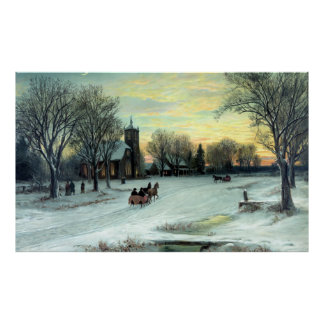 Christmas Eve by W. C. Bauer Poster