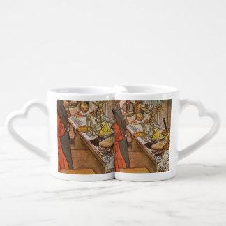 Christmas Eve Carl Larsson 1904 Coffee Mug Set