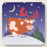 Christmas Eve Cow Drink Coasters