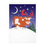 Christmas Eve Cow Stationery