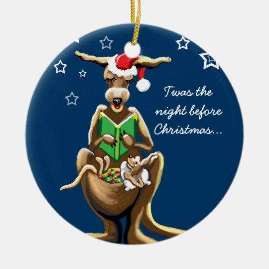 Christmas Eve in Australia Ceramic Ornament | Zazzle.com