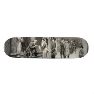 Christmas Eve in Colonial Times skateboard